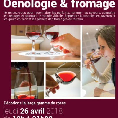 Stage oenologie -> 26 avril (21 €)